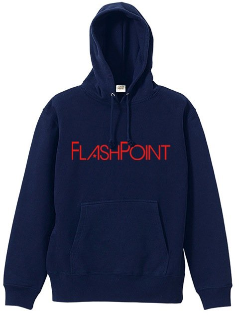 [FLASH POINT] 抜染ロゴ SWEAT HOODY(NV)
