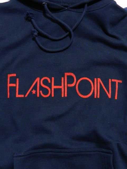 [FLASH POINT] 抜染ロゴ SWEAT HOODY(NV)1