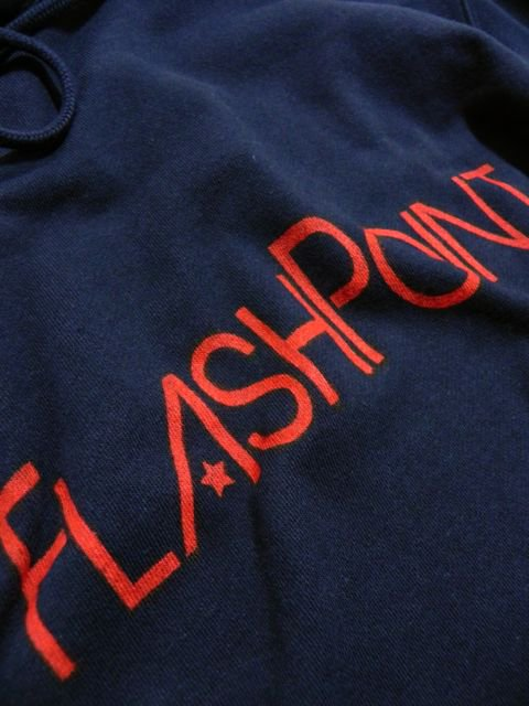 [FLASH POINT] 抜染ロゴ SWEAT HOODY(NV)2