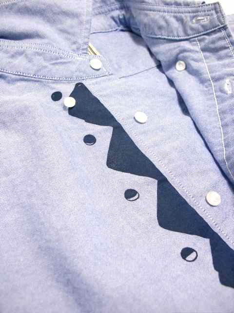 "[NATURAL BICYCLE] Cotton B.D.Shirt ""Mount & Moon""1"