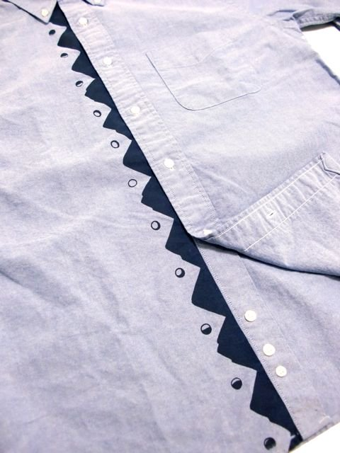 "[NATURAL BICYCLE] Cotton B.D.Shirt ""Mount & Moon""2"