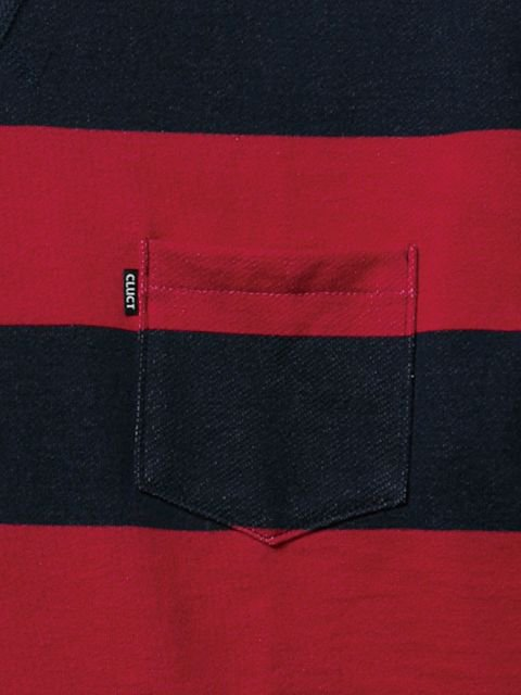 [CLUCT] BORDER STRIPE POCKET CREW2