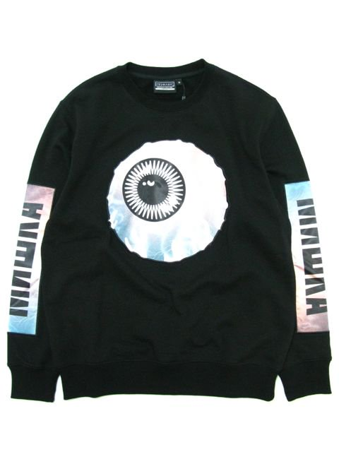 [MISHKA] ELECTRICAL KEEP WATCH CREWNECK SWEAT PANEL SLEEVE