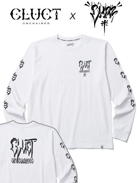 [CLUCT] CLUCT×CHAZ BOJORQUEZ LONG SLEEVE TEE(WH)