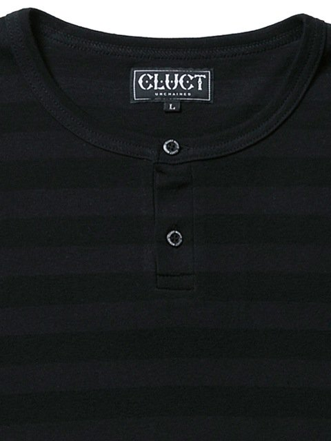 [CLUCT] TONAL STRIPE HENRY TEE1