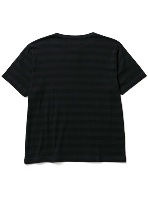 [CLUCT] TONAL STRIPE HENRY TEE3