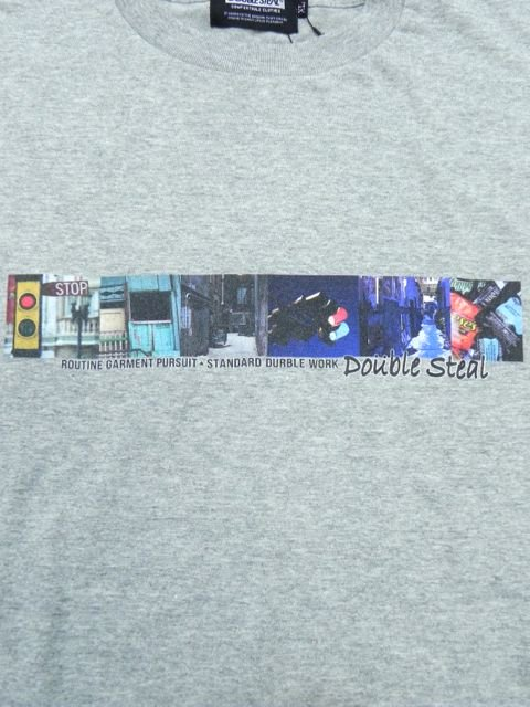 [DOUBLE STEAL BLACK] STREET PHOT TEE1