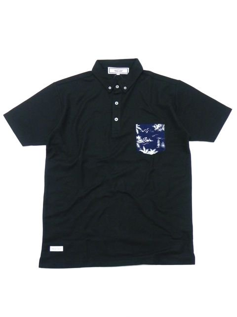 [PROJECT SR'ES] RUGGED ALOHA POCKET POLO(BK)