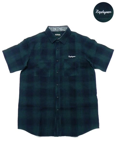[ZEPHYREN] CHECK SHIRT S/S -Resolve-(GR)