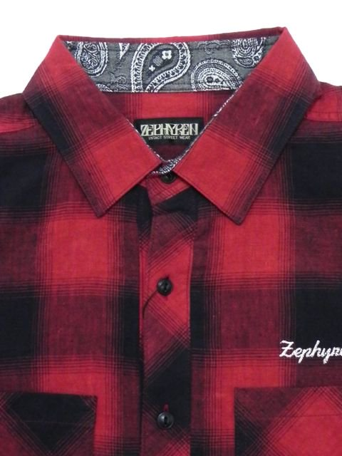 [ZEPHYREN] CHECK SHIRT S/S -Resolve-(RE)2