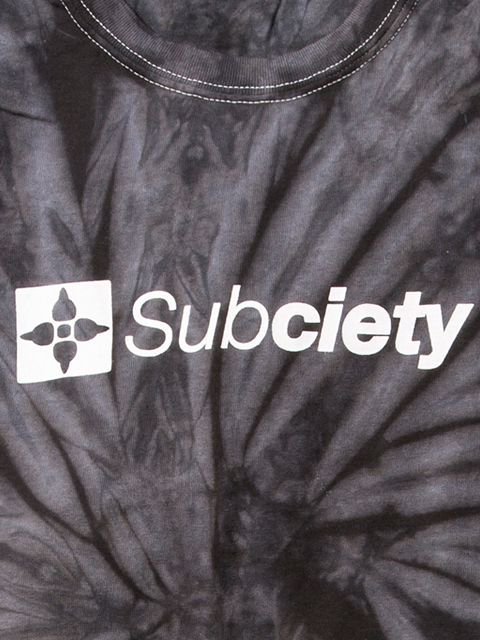 [SUBCIETY] TIE DYE TEE-THE BASE-(BK)1