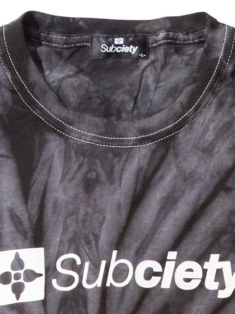 [SUBCIETY] TIE DYE TEE-THE BASE-(BK)2