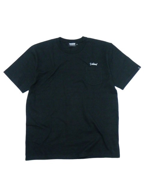 [DOUBLE STEAL BLACK] SUPER HEAVY POCKET TEE