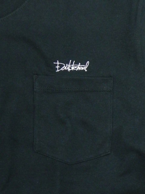 [DOUBLE STEAL BLACK] SUPER HEAVY POCKET TEE1