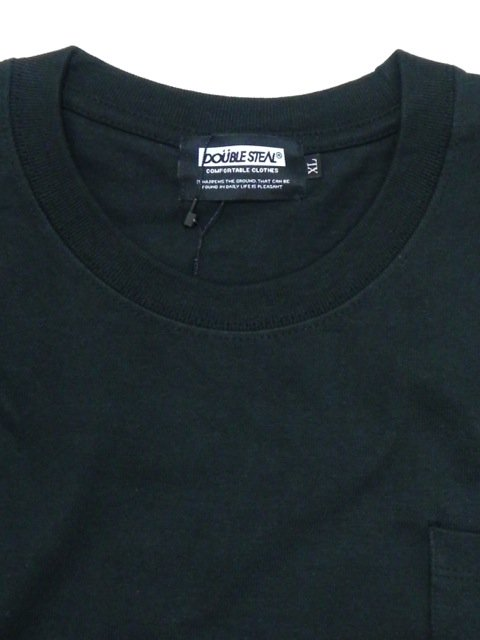 [DOUBLE STEAL BLACK] SUPER HEAVY POCKET TEE2
