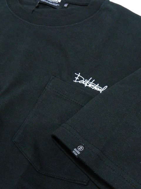 [DOUBLE STEAL BLACK] SUPER HEAVY POCKET TEE3