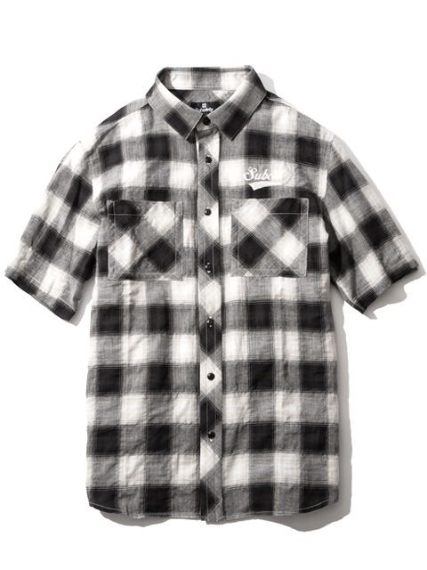[SUBCIETY] CHECK SHIRT S/S-GLORIOUS-