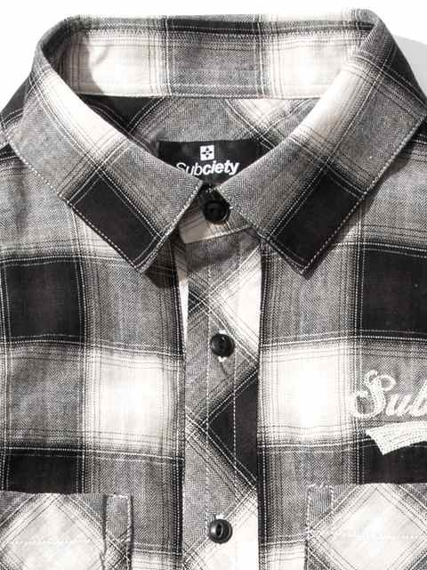 [SUBCIETY] CHECK SHIRT S/S-GLORIOUS-1