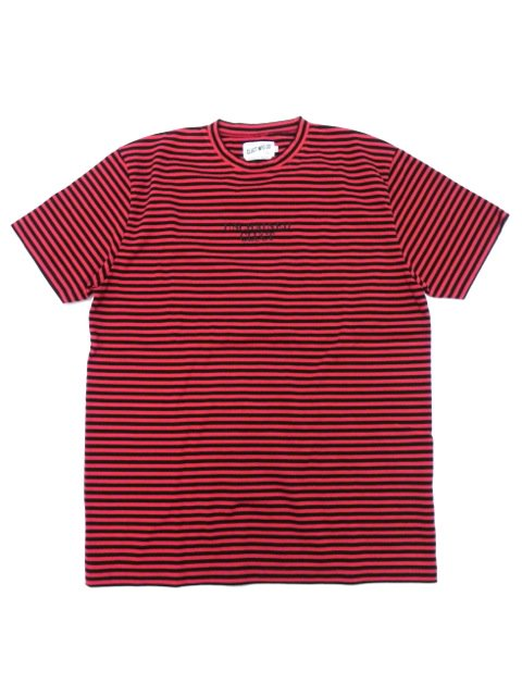 [CLUCT] EMBROIDERED S/S BORDER STRIPE TEE
