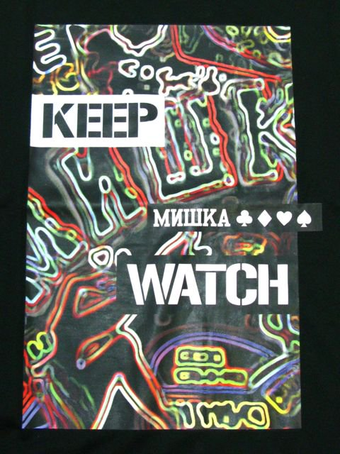 [MISHKA] NEON KEEP WATCH LOGO T-SHIRT1