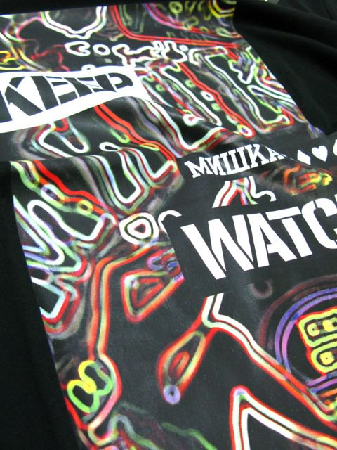 [MISHKA] NEON KEEP WATCH LOGO T-SHIRT3