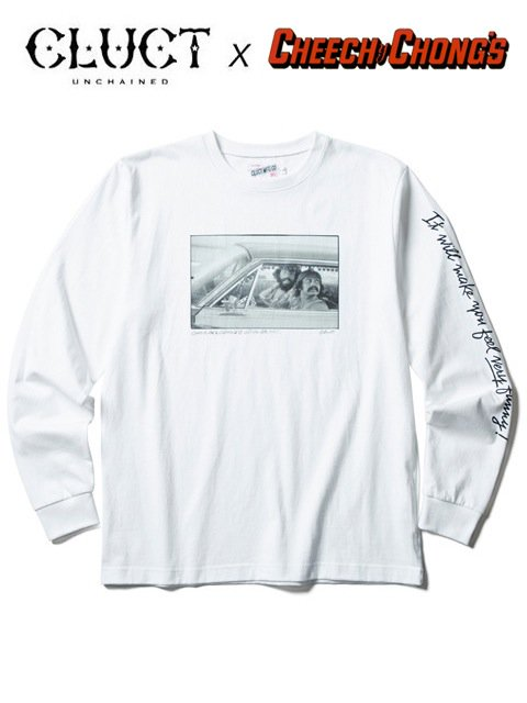 [CLUCT] CHEECH&CHONG × CLUCT L/S TEE(WH)