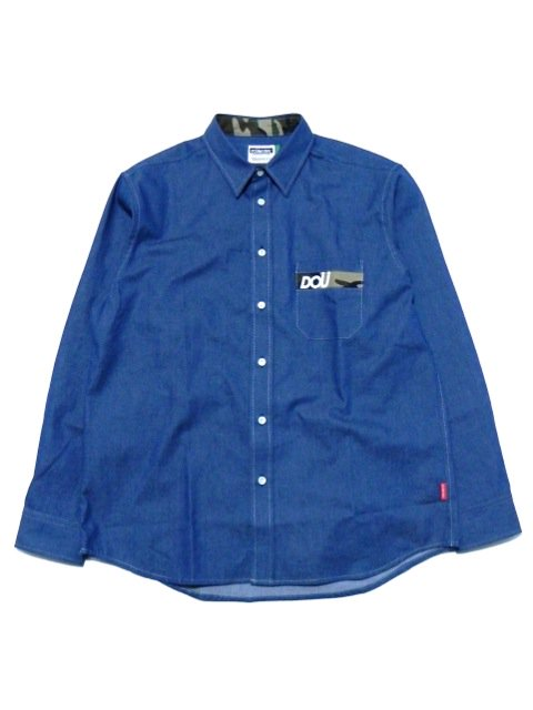 [DOUBLE STEAL] DOU Pocket DENIM shirt(CA)