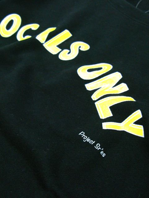 [PROJECT SR'ES] LOCALS ONLY SWEAT(BK)3