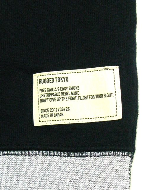 [RUGGED] crewneck sweat(BK)2