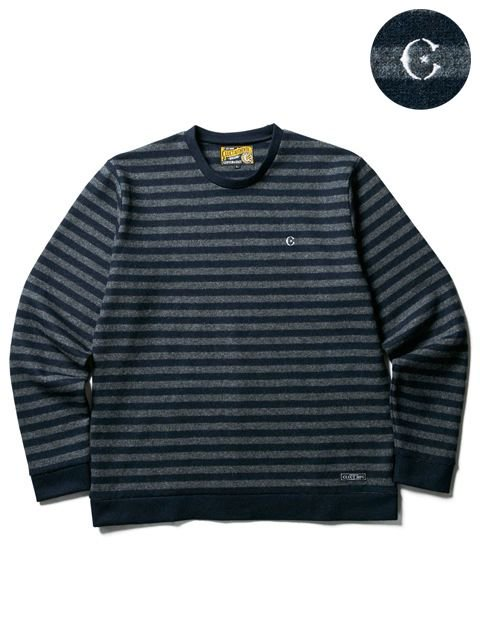 [CLUCT] WOOL BORDER STRIPE KNIT SEW(CH)