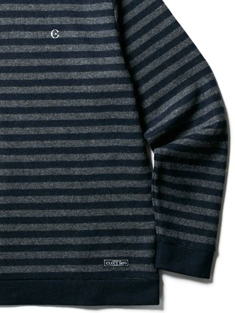 [CLUCT] WOOL BORDER STRIPE KNIT SEW(CH)2