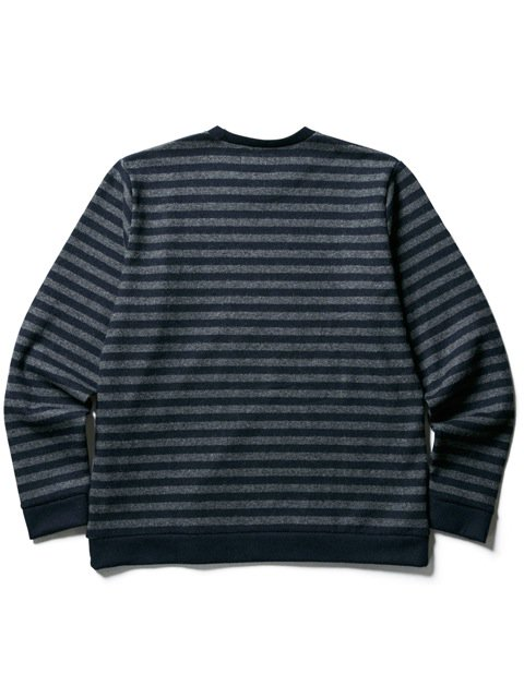 [CLUCT] WOOL BORDER STRIPE KNIT SEW(CH)3