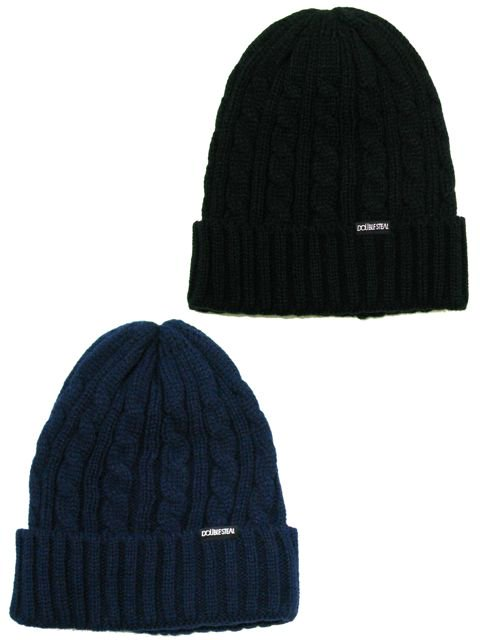 [DOUBLE STEAL] CABLE KNIT CAP