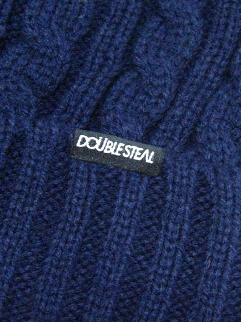[DOUBLE STEAL] CABLE KNIT CAP1