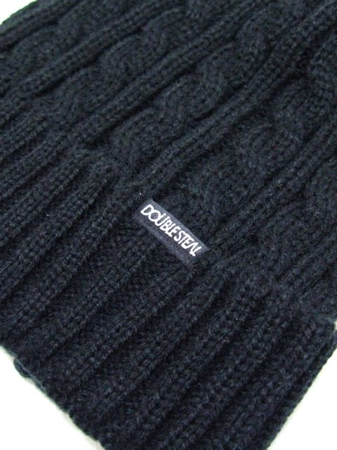 [DOUBLE STEAL] CABLE KNIT CAP2