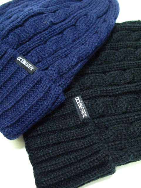 [DOUBLE STEAL] CABLE KNIT CAP3