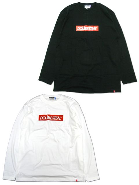 [DOUBLE STEAL] BOX LOGO L/S TEE