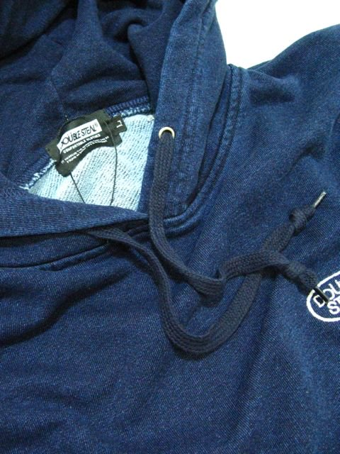 [DOUBLE STEAL BLACK] WASH DENIM SWEAT PARKA2