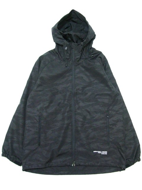 [DOUBLE STEAL BLACK] BLACK CAMO Shell Parka Jacket