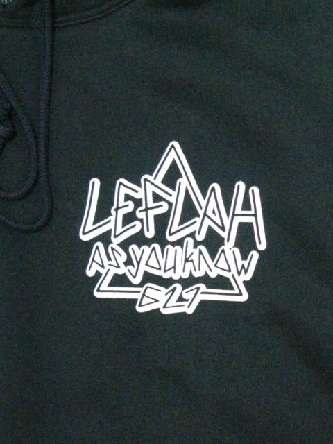 [LEFLAH] AS YOU LOGO PARKA(BK)1