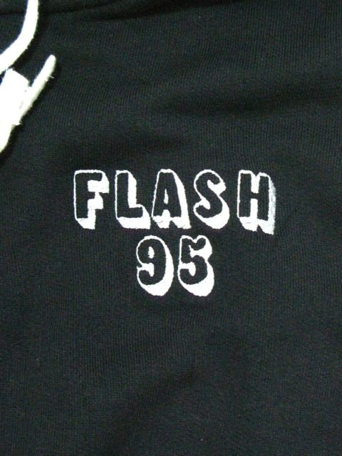 [FLASH POINT] FLASH 95 EMB ZIP UP HOODIE(BK)1