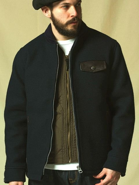 [CLUCT] SHAWL COLLAR MELTON JACKET