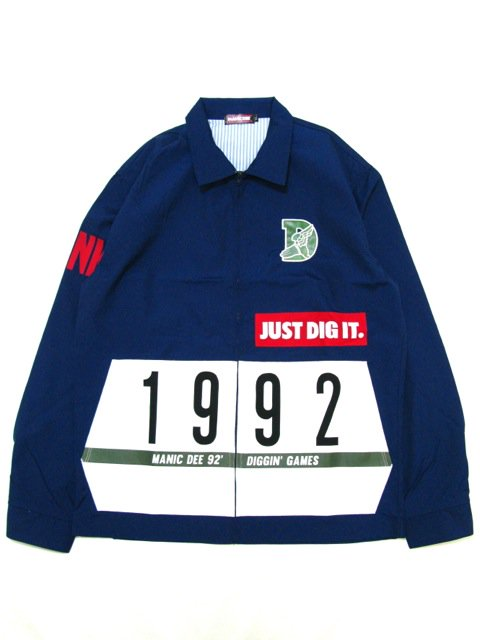 [MANIC DEE] JUST DIG IT. FUNK 1992 DRIZZLER JACKET(Lt.NV)