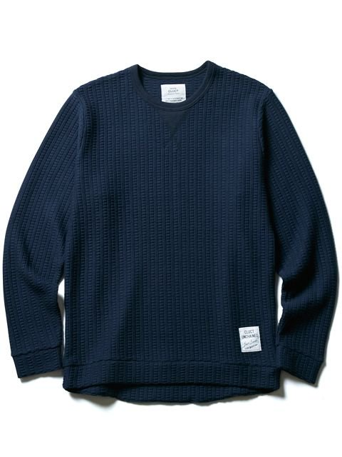[CLUCT] HONEY COMB CAZETTE CREW KNIT SEW