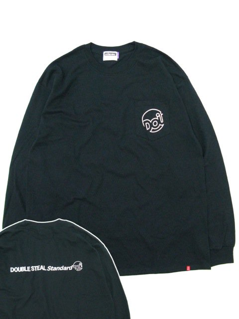 [DOUBLE STEAL] POCKET LINE DOU L/S TEE(BK)