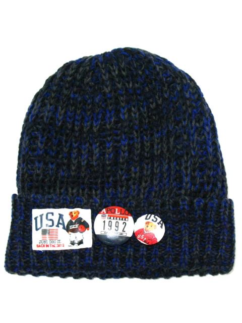 [MANIC DEE] JUST DIG IT. BB BEAR PATCH KNIT CAP