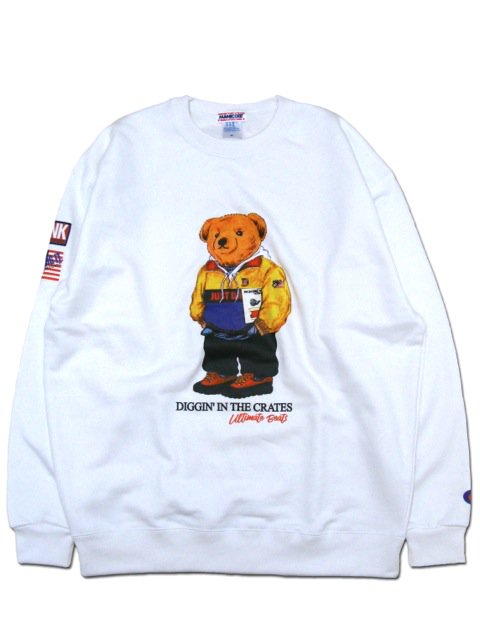 [MANIC DEE] BONGO ROCK BEAR CREW SWEAT