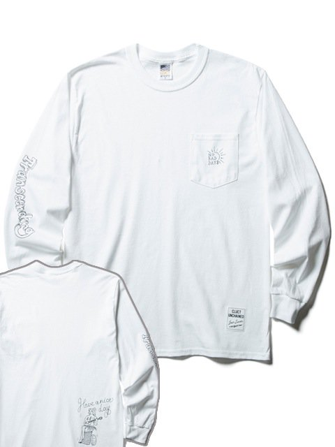 [CLUCT] L/S PKT TEE NO BAD DAYS(WH)