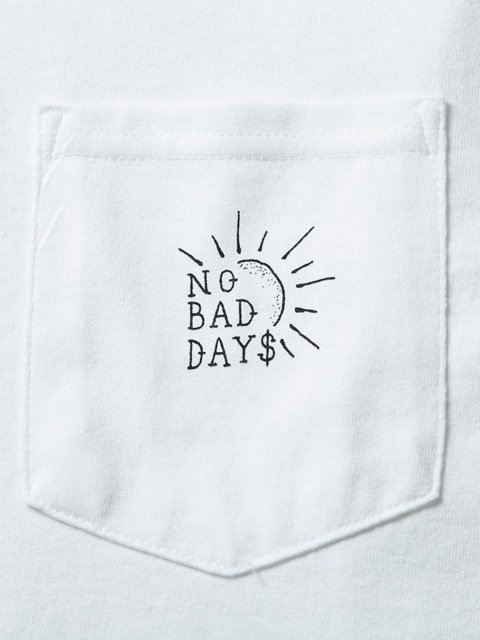 [CLUCT] L/S PKT TEE NO BAD DAYS(WH)1