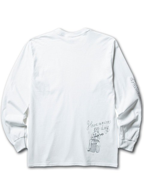 [CLUCT] L/S PKT TEE NO BAD DAYS(WH)3